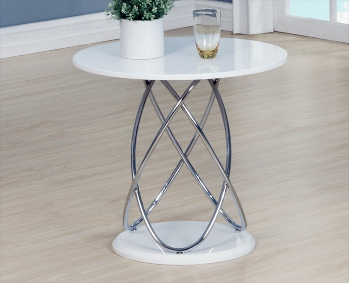 Eclipse White High Gloss Lamp Table