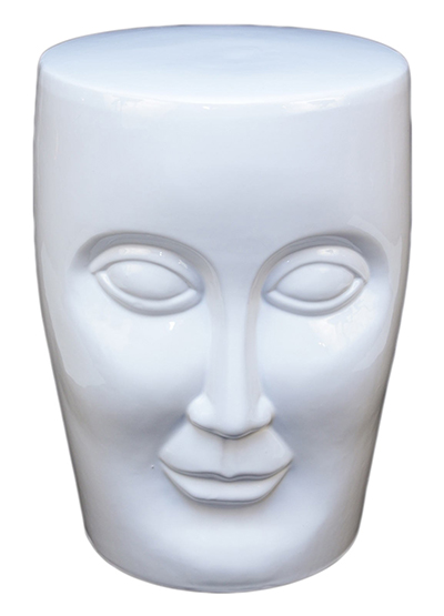 White Face Stool