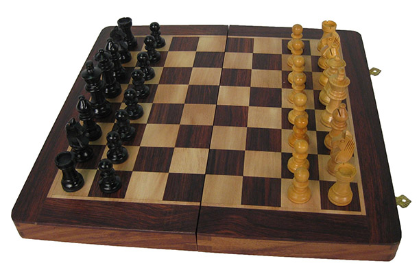 Folding Chess Board With Pieces 12 Inch