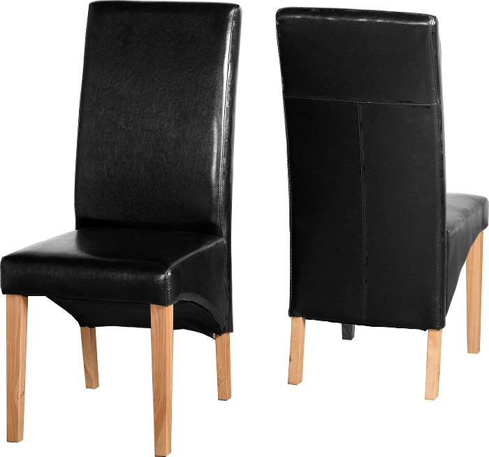 G1 Chair in Black Faux Leather