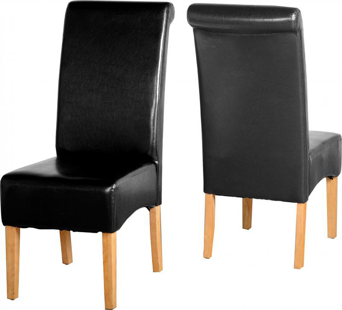 G10 Chair in Black Faux Leather