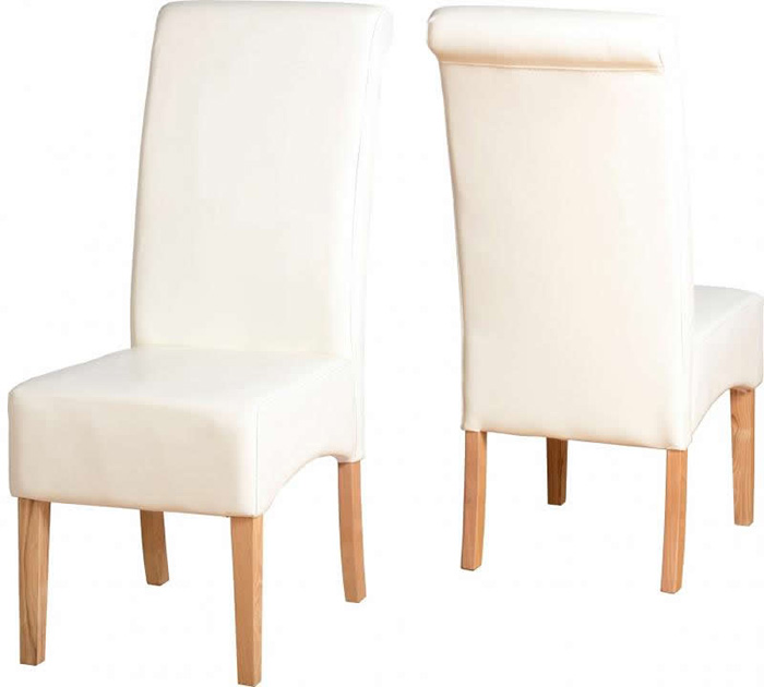 G10 Chair in Cream Faux Leather