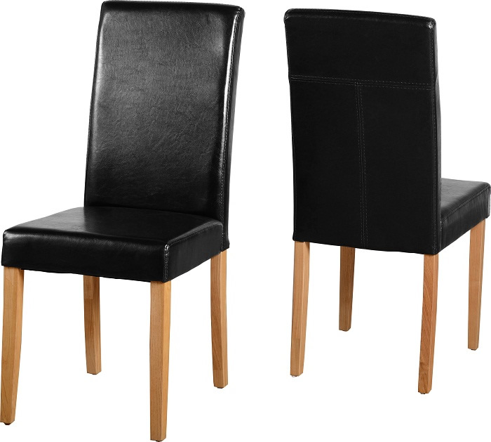 G3 Chair in Black Faux Leather