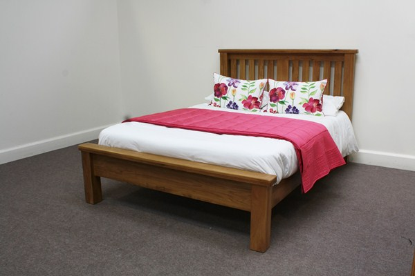 Hampshire Oak Double Low Foot End Bed
