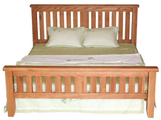Hampshire Oak King High End Bed