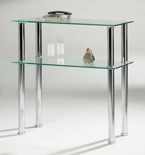 Hudson Clear Glass Hall Table