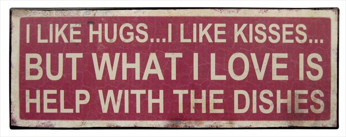"""I Like Hugs"" Metal Plaque"