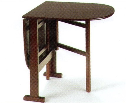 Small Wood Veneer Oval End Gateleg Table