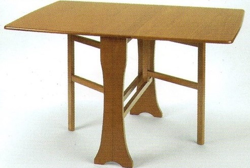 Wood Veneer Rectangular Gateleg table