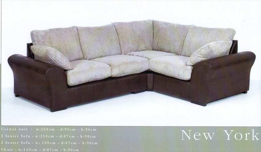 New York Range of Corner suite/Sofa's/Chairs From