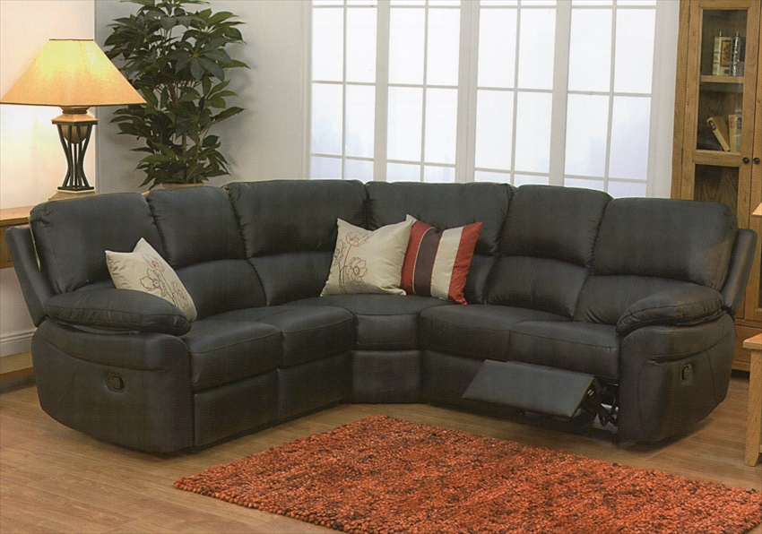 Monzano Leather & Match Recliner Corner Suite