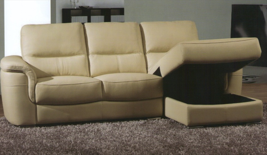 Vogue L Shape Sofa With Storage Grade 10 Leather/Match