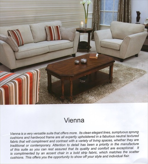 Vienna Range of Chairs & Settees From