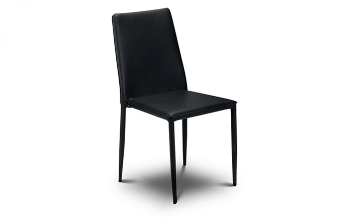 Jazz Stacking Dining Chair Black
