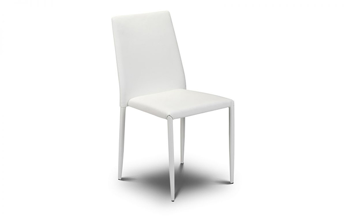 Jazz Stacking Dining Chair White