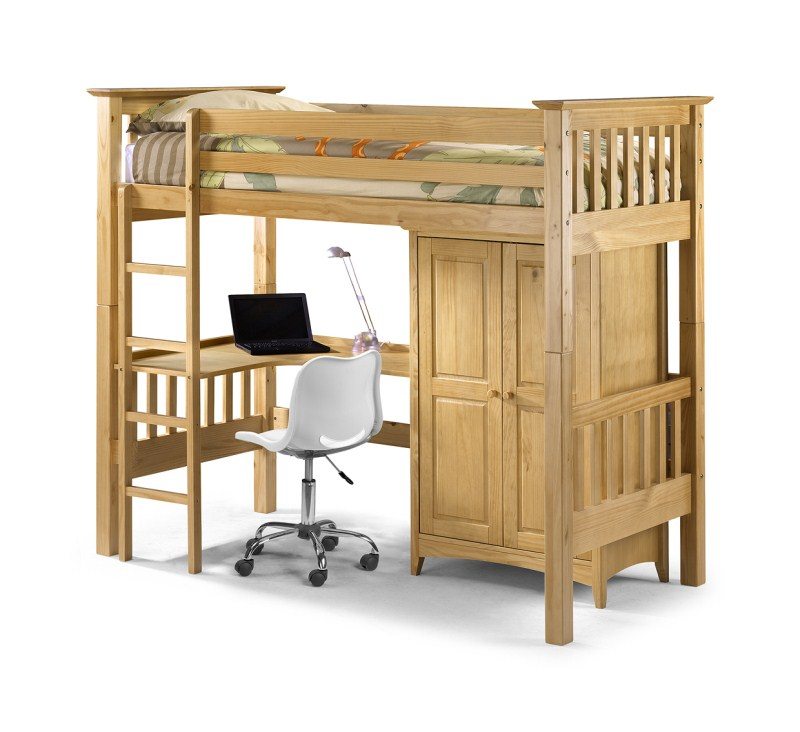 Barcelona Style High Sleeper Bedsitter Bunk - Click Image to Close