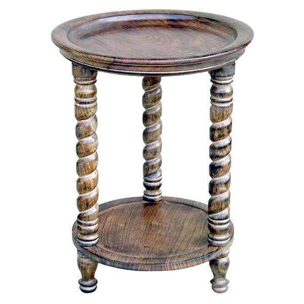 POLISHED MANGO SMALL ROUND TABLE