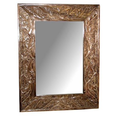 "POLISHED MANGO ""LEAF DESIGN"" WALL MIRROR"