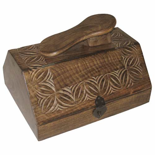 "POLISHED MANGO ""CELTIC DESIGN"" SHOE POLISH BOX"