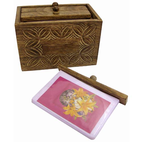 POLISHED MANGO PHOTO BOX (CELTIC DESIGN)