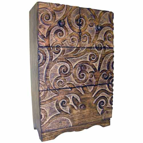 "POLISHED MANGO ""OCTOPUS TREE DESIGN"" 4 DRAWER ALMIRAH"