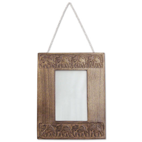 "POLISHED MANGO ""ELEPHANT DESIGN"" WALL PHOTO FRAME(24 x19)"