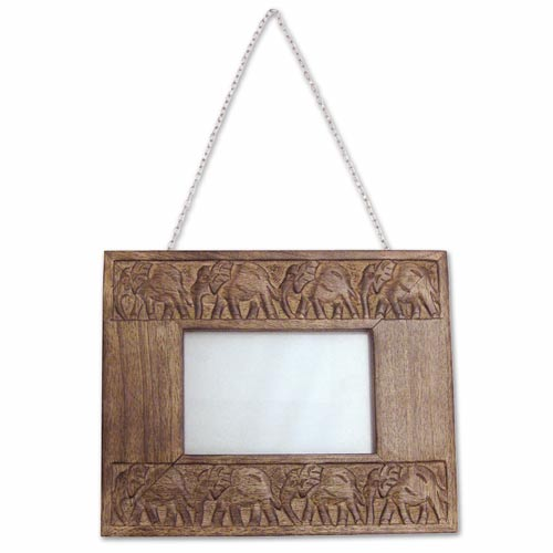 "POLISHED MANGO ""ELEPHANT DESIGN"" WALL PHOTO FRAME (17.5 X 21)"