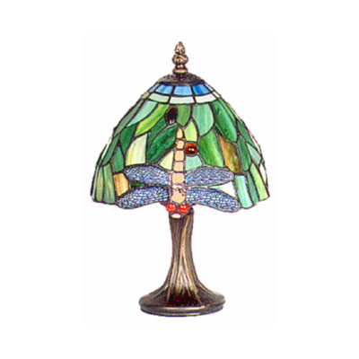 "TIFFANY STYLE ""CREAM JEWELLED DESIGN"" SMALL TABLE LAMP"