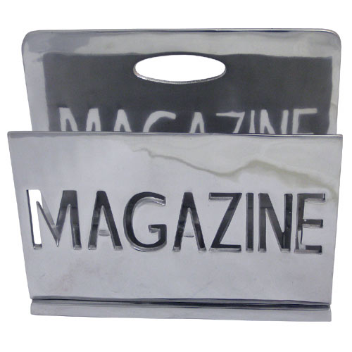 """POLISHED"" ALLUMINIUM MAGAZINE RACK"