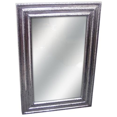 """POLISHED"" ALLUMINIUM WALL MIRROR"