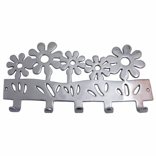 """POLISHED"" ALLUMINIUM (FLOWER DESIGN) COAT HANGER"