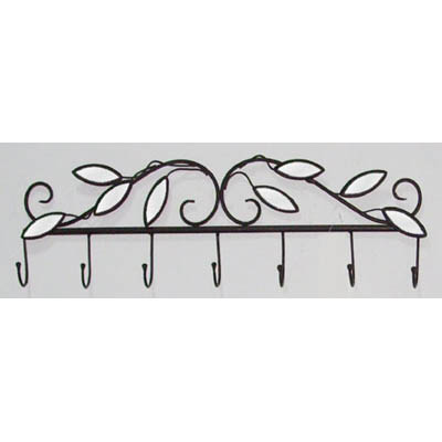 """MIRROR LEAF COAT RACK"" (WALL ART)"
