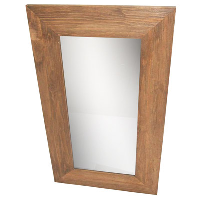 HEMLOCK WOOD WALL MIRROR (120cm X 70cm X 3cm)
