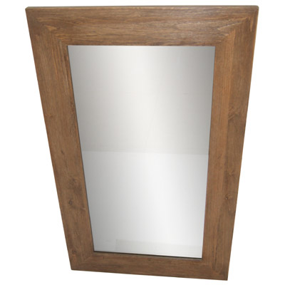 HEMLOCK WOOD WALL MIRROR (100cm x 60cm x 3cm)