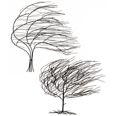 """METAL TREES"" (WALL ART) SET OF 2"