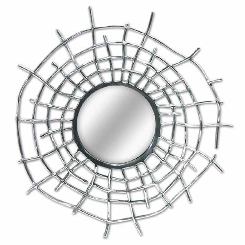 """POLISHED"" ALLUMINIUM (SPIDER WEBB) MIRROR"