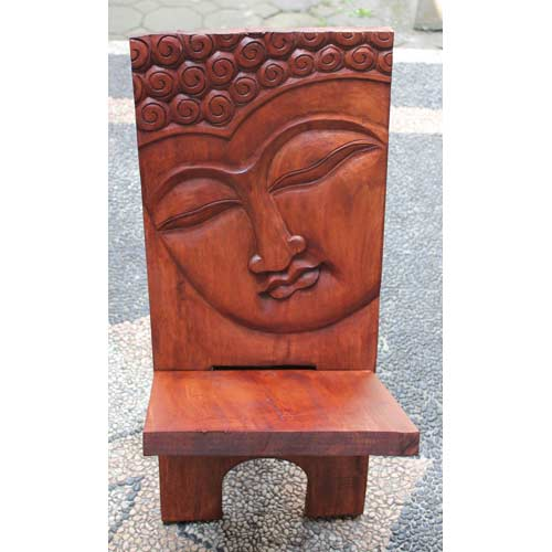 """HAND CARVED"" WOODEN FOOT CHAIR"