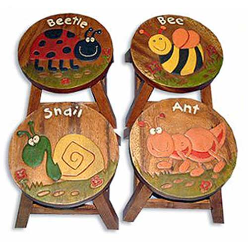 """INSECT DESIGN"" SET OF 4 WOODEN PLANT STANDS"
