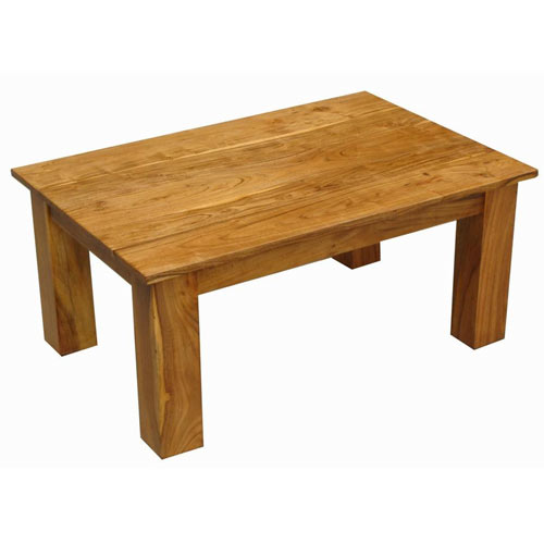 ACACIA WOOD OBLONG COFFEE TABLE - Click Image to Close
