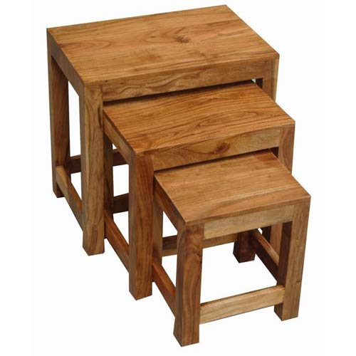 Acacia Wood Nest Of Tables Tbs Discount