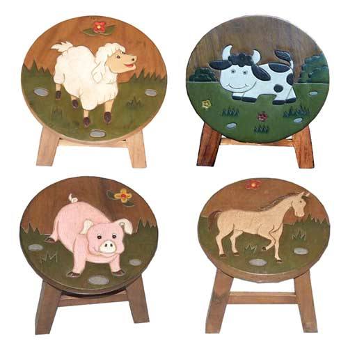 """ANIMAL"" SET OF 4 PLANT STANDS"