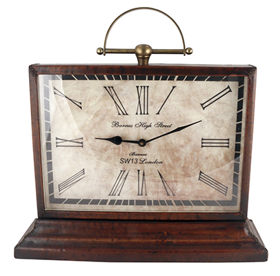 Leather Mantle Clock