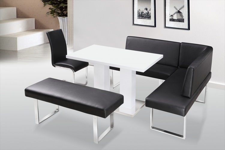 Liberty high gloss table & chair/ bench/corner bench
