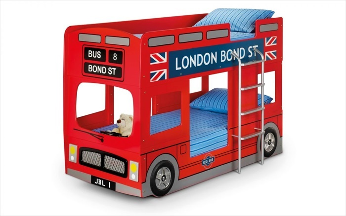 London Bus Bunk Bed Single
