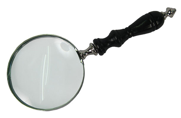 Magnifying Glass With Black Handle (4cm Dia)