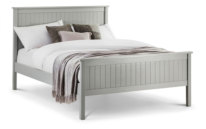 Maine Bed Dove Grey Finish King