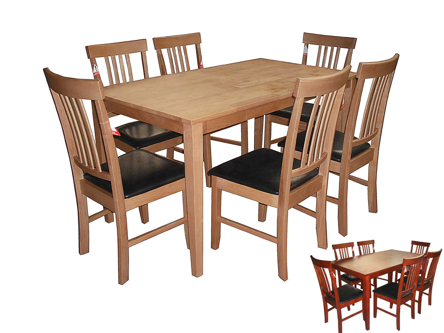 MASSA SOLID WOOD TABLE & 6 CHAIRS