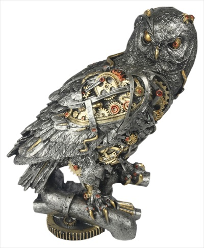 Steam Punk Design Owl Statue Staring