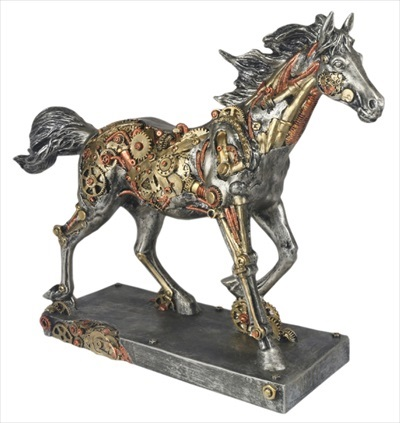 Steam Punk Design Horse Statue