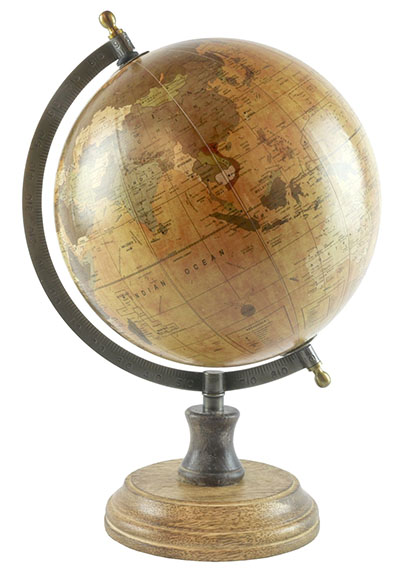 Medium Globe On Wooden Base